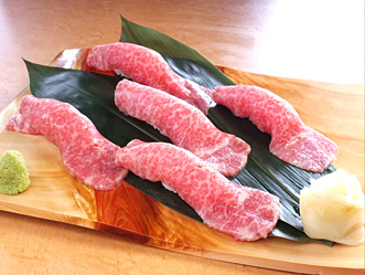 馬肉の桜寿司写真