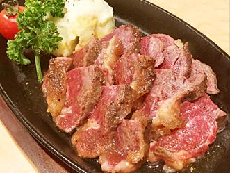 馬肉 肉塊ステーキ写真